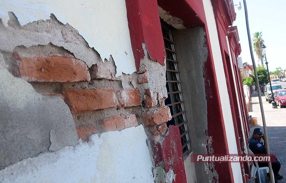 seguridad publica mocorito, policias, daños edificio