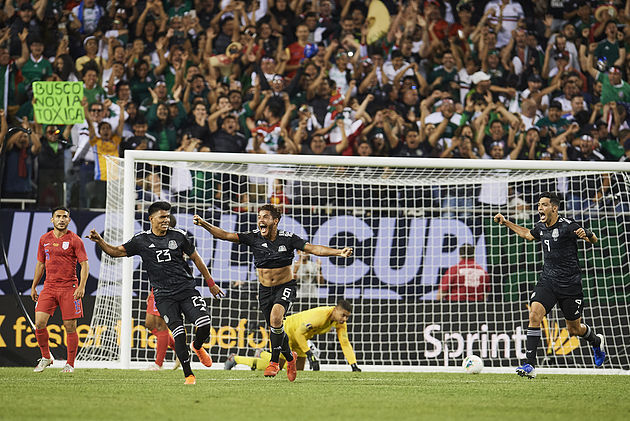 during the game Mexico vs United States, corresponding to Great Final of the CONCACAF Gold Cup 2019, at Soldier Field Stadium, Chicago Illinois, on July 07, 2019.   <br><br>  durante la el partido México vs Estados Unidos, correspondiente a la Gran Final de la Copa Oro de la CONCACAF 2019, en el Soldier Field Stadium, Chicago, Illinois, el 07 de Julio de 2019.